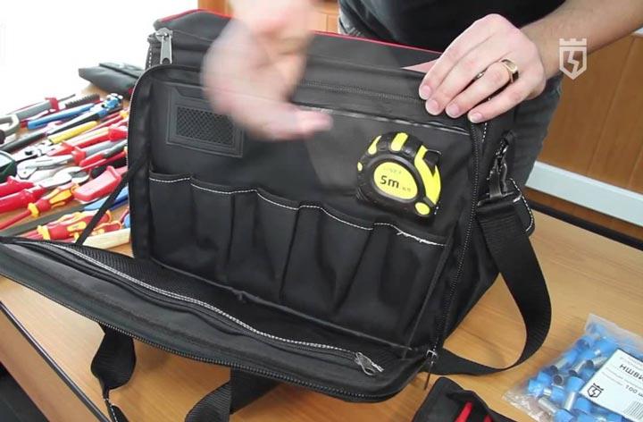 спецкрепление под рулетку в сумке КВТ С-04