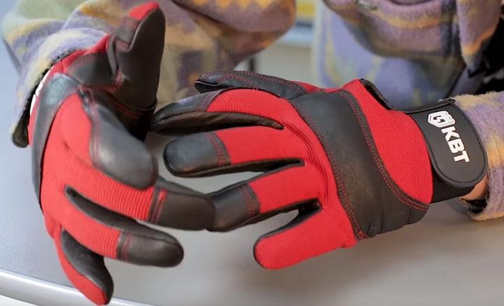 усиленные вставки на пальцах перчаток КВТ С-33