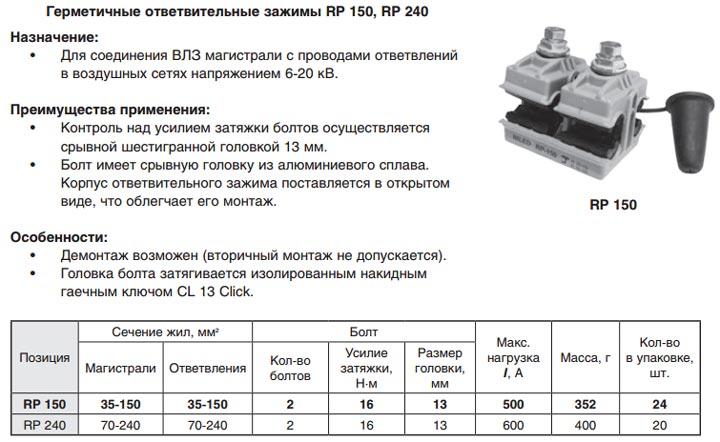 герметичные прокалывающие зажимы Niled для ВЛЗ-10кв