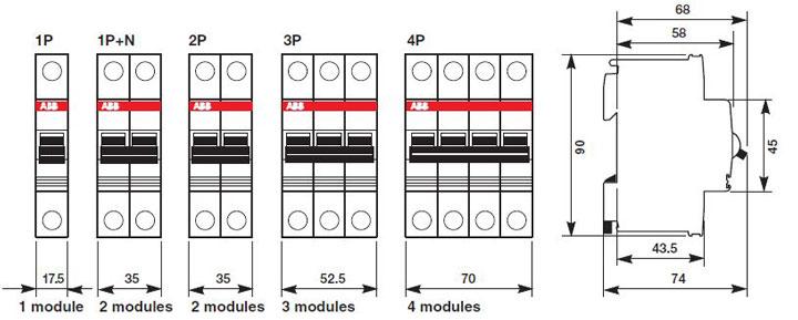 разновидности модульных автоматов ABB