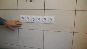 Блок розеток может состоять из трех и более точек электропитания