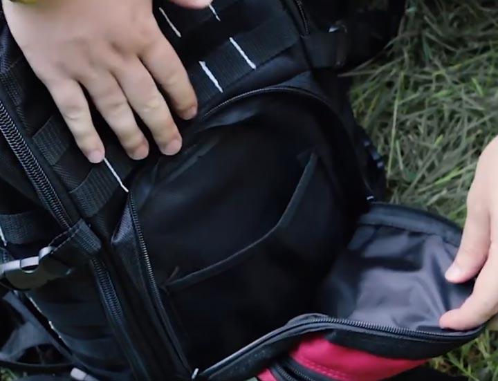 2 внутренних кармана на клапане КВТС08
