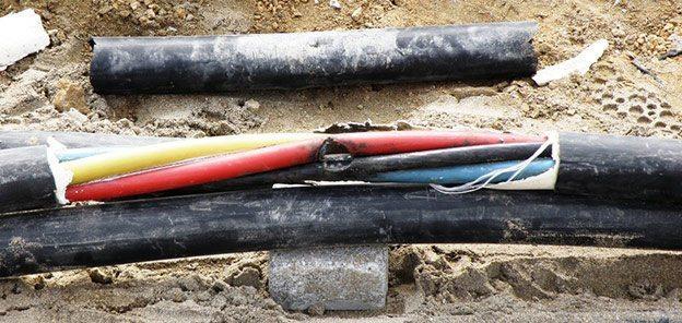 Место повреждения в кабеле