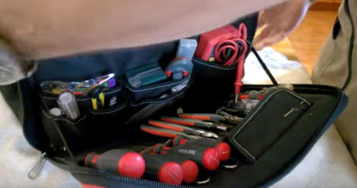 комплектование инструментом в сумке С-04