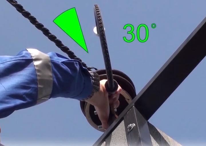 угол смещения 30 градусов при установке разрядника на провод СИП-3
