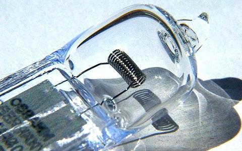 спираль галогенной лампочки