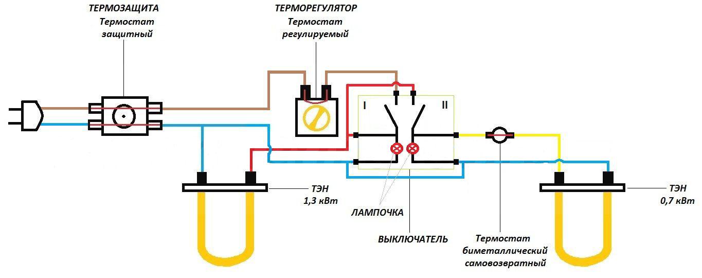 электрическая схема водонагревателя