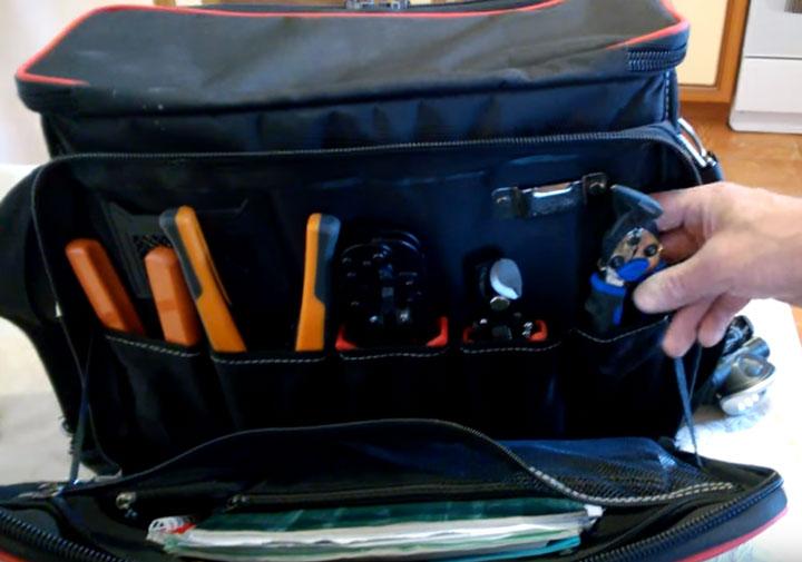 карманы в боковом отсеке сумки С-04