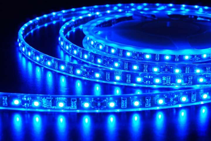 светодиодная лента красивая синего цвета