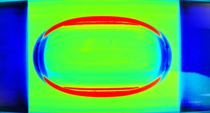 пузырек на колбе пузырькового уровня