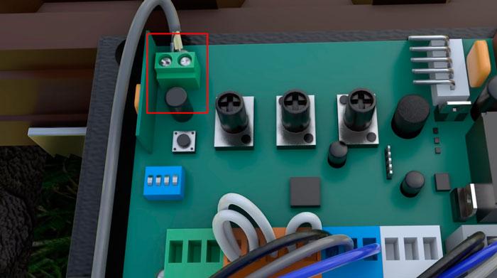 подключение антенного кабеля на приводе откатных ворот