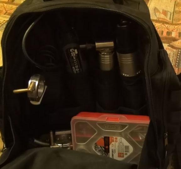 пластиковый органайзер под крепеж внутри отдела рюкзака КВТ