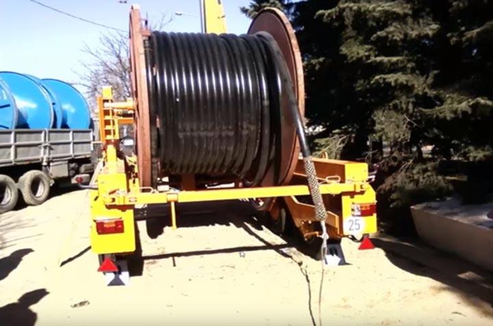 раскаточная тележка для кабеля СПЭ и его транспортировки
