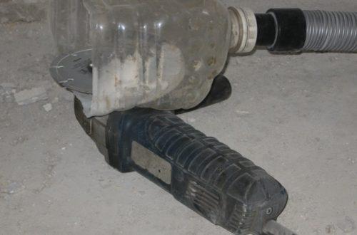 Пластиковая емкость может выполнить функцию защитного пылеулавливателя