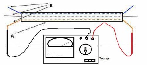 Прозвонка кабеля с цветными проводами