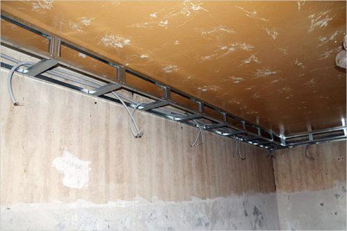 Укладка провода в подвесную конструкцию