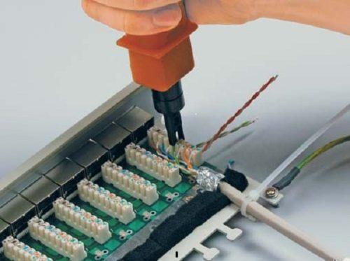 Кроссировка проводов кабеля