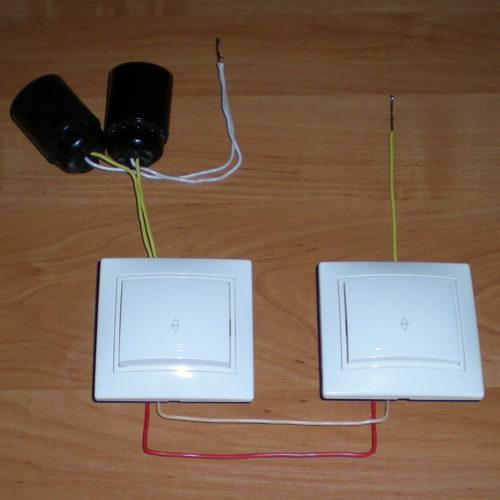 Общий вид частей электрической цепи осветительной сети