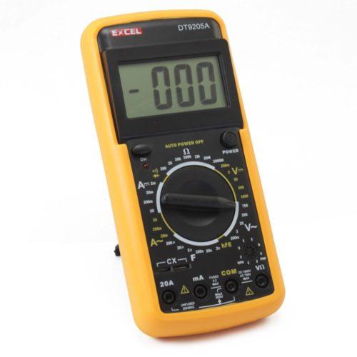 При помощи мультиметра можно определить величину напряжения в домашней электросети