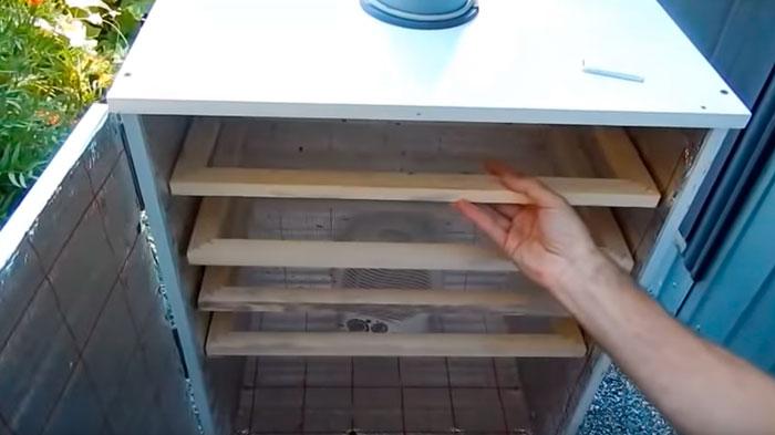 сеточки для сушки в самодельной сушилке