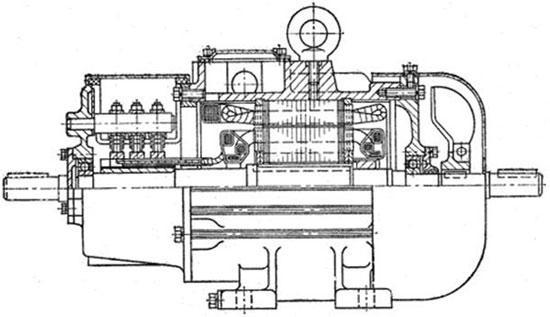 Конструкция асинхронного электродвигателя с фазным ротором