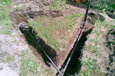 земельная подготовка к прокладке контура заземления