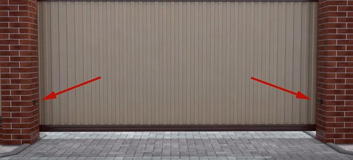 фотоэлементы на откатных воротах где ставить