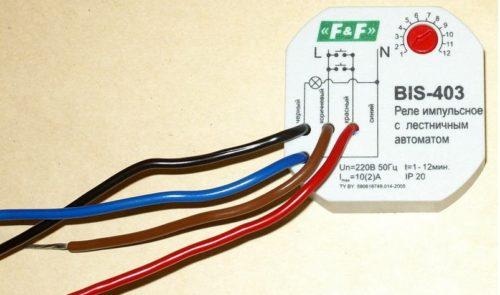 Изображение электрической схемы на корпусе электронного реле