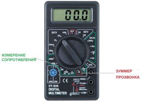 С помощью тестера «мультиметра» можно проверить состояние провода