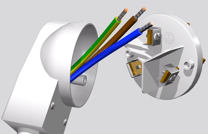 подключение вилки промышленной для варочной поверхности