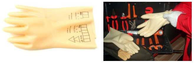 диэлектрические перчатки для работы под напряжением
