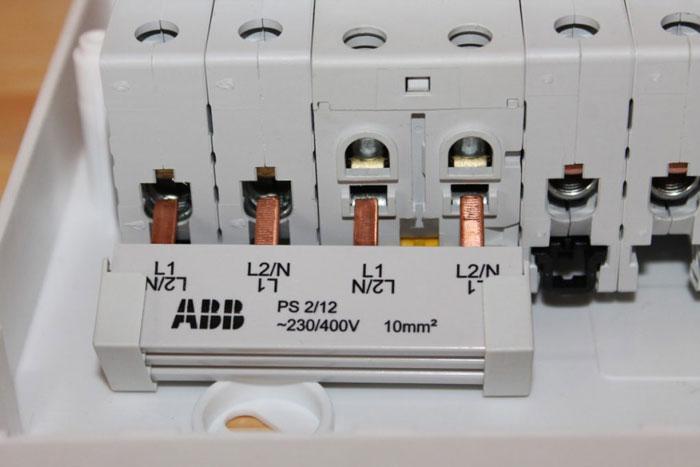 фазная гребенка для модульных автоматов