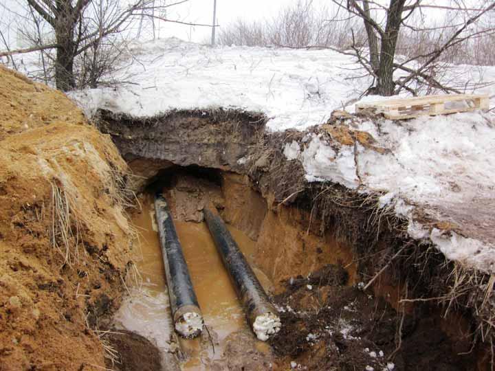 прокол под землей для перехода кабеля через дорогу