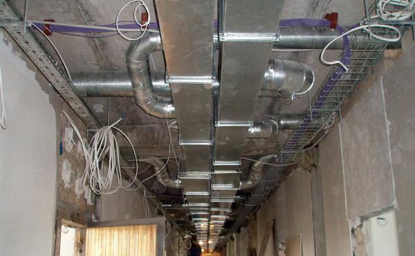 Воздуховоды приточной и вытяжной вентиляции