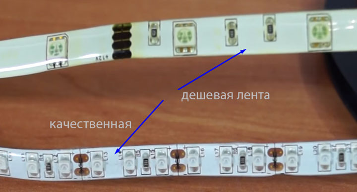 некачественная влагозащита светодиодной ленты