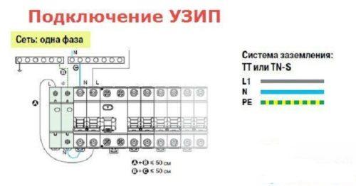 Подключение УЗИП к однофазной, трехфазной сети, в щитке (схема)