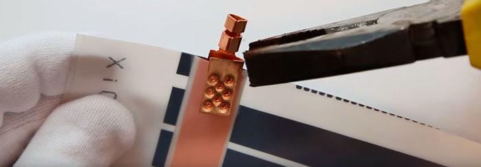 подключение инфракрасной пленки на клеммах