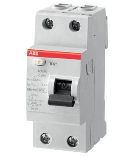Устройство защитного отключения производства компании АВВ модели FH202-AC-40 на 63 А
