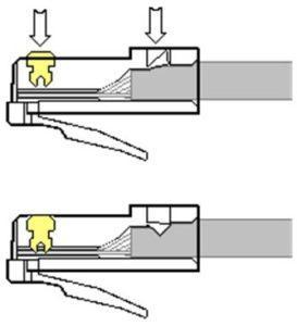 Обжим кабеля в коннекторе подручными инструментами