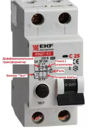 Электронная плата усилителя обозначается на схеме, находящейся на корпусе устройства, в виде треугольника