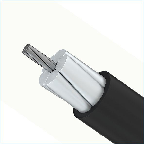 Провод СИП-3 имеет одну жилу из сплава алюминия и стальной сердечник