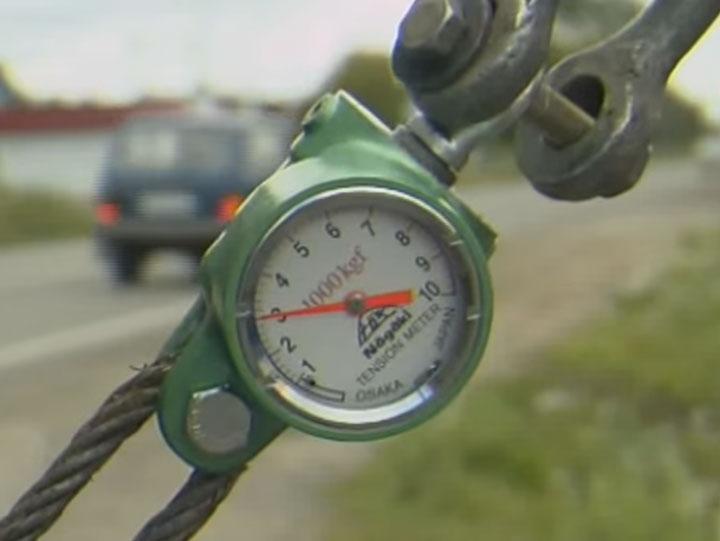 регулировка натяжения СИП динамометром