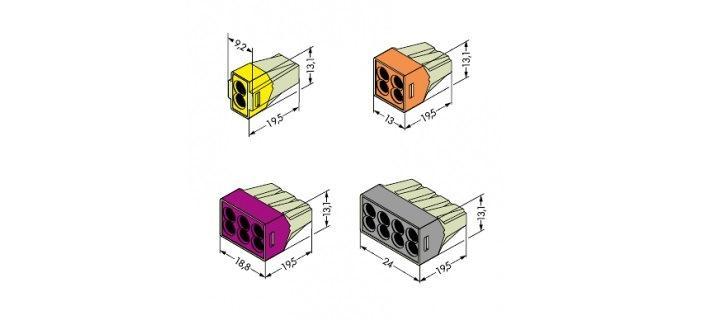 Изображение разновидностей моделей клемм WAGO 773