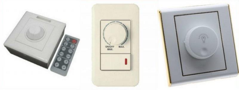 Представлены 3 модели световых регуляторов