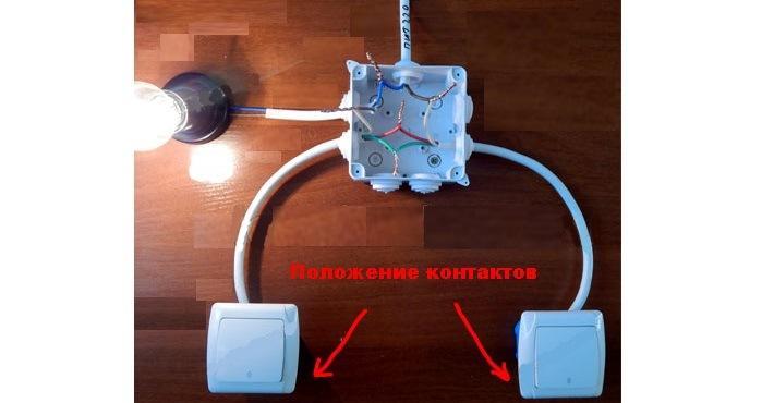 Изображение подключения электрических контактов