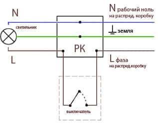 Подключение переключателя раздельного