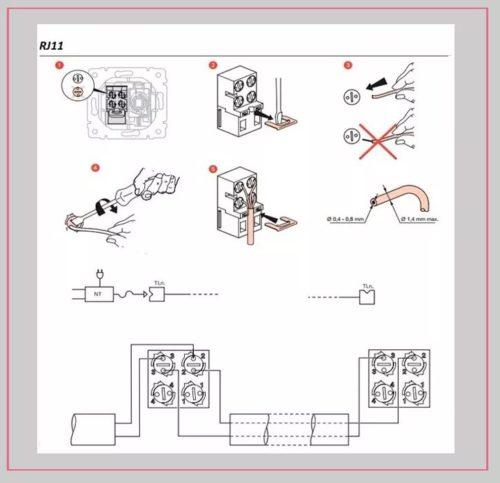 Схема конструкции подключения линии к розетке Легранд