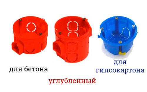 Современные пластиковые подрозетники
