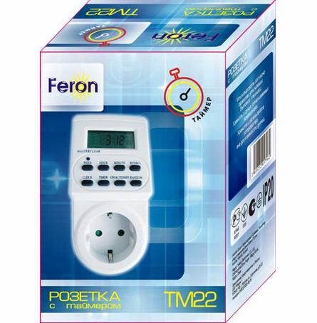 розетка с таймером ТМ22 Feron