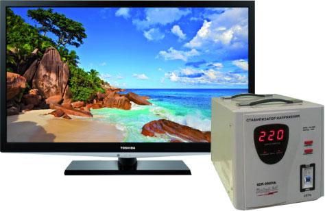 стабилизатор и телевизор